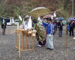 安全登山祈願祭の様子